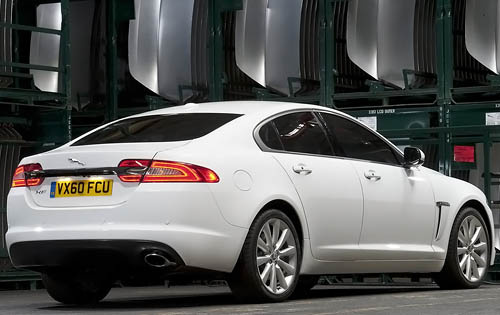2012 Jaguar XF, Back Right Quarter View (Jaguar Cars North America), exterior, manufacturer