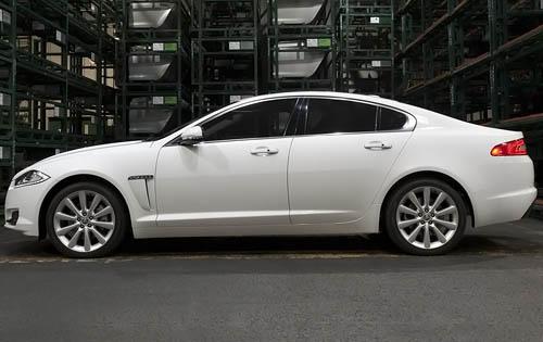 2012 Jaguar XF, Left Side View (Jaguar Cars North America), exterior, manufacturer