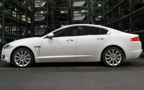 2012 Jaguar XF, Left Side View (Jaguar Cars North America), manufacturer, exterior