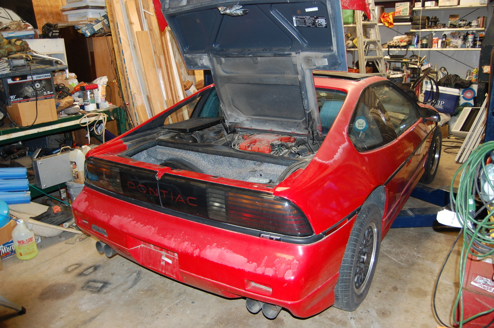 Pontiac Fiero Questions Engine Drop Cargurus 1986 Wiring Schematic Also Its On A Lift And Can I Swing The To Do Clutch Change Or Is It Best Totally Remove Any Other Info Will Be Very Appreciated