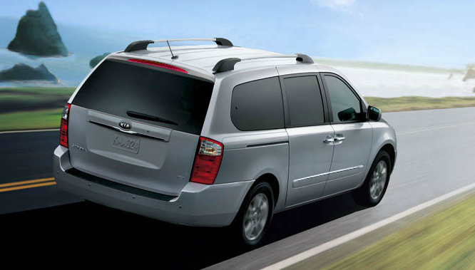 2012 Kia Sedona, Back Right Quarter View (Hyundai Motor Company), manufacturer, exterior