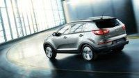 2012 Kia Sportage, Back Left Quarter View (Hyundai Motor Company), exterior, manufacturer