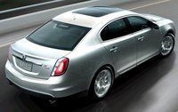 2012 Lincoln MKS, Back Right Quarter View (Ford Motor Company), manufacturer, exterior
