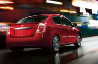 2012 Nissan Sentra, Back Right Quarter View (Nissan Motors Corporation, USA), exterior, manufacturer