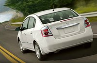 2012 Nissan Sentra, Back Left Quarter View (Nissan Motors Corporation, USA), exterior, manufacturer