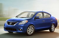 2012 Nissan Versa, Front Left Quarter View (Nissan Motors Corporation, USA), exterior, manufacturer, gallery_worthy