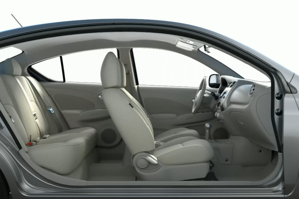 2012 Nissan Versa, Interior View (Nissan Motors Corporation, USA), manufacturer, interior