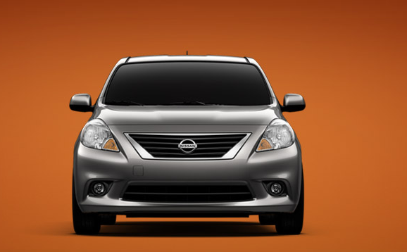 2012 Nissan Versa, Front View (Nissan Motors Corporation, USA), manufacturer, exterior