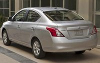 2012 Nissan Versa, Back Left Quarter View (Nissan Motors Corporation, USA), manufacturer, exterior
