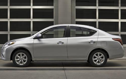 2012 Nissan Versa, Left Side View (Nissan Motors Corporation, USA), manufacturer, exterior