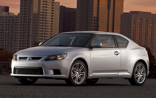 2012 Scion tC, Front Left Quarter View (Toyota Motor Sales, U.S.A., Inc.), manufacturer, exterior