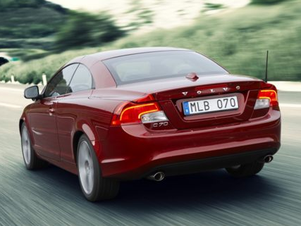 2012 Volvo C70, Back Left Quarter View (Aol images), manufacturer, exterior