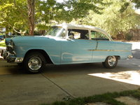 1955 Chevrolet Delray, sold the old chrome wire wheels,  and now have chrome smoothies with baby moons!, exterior, gallery_worthy