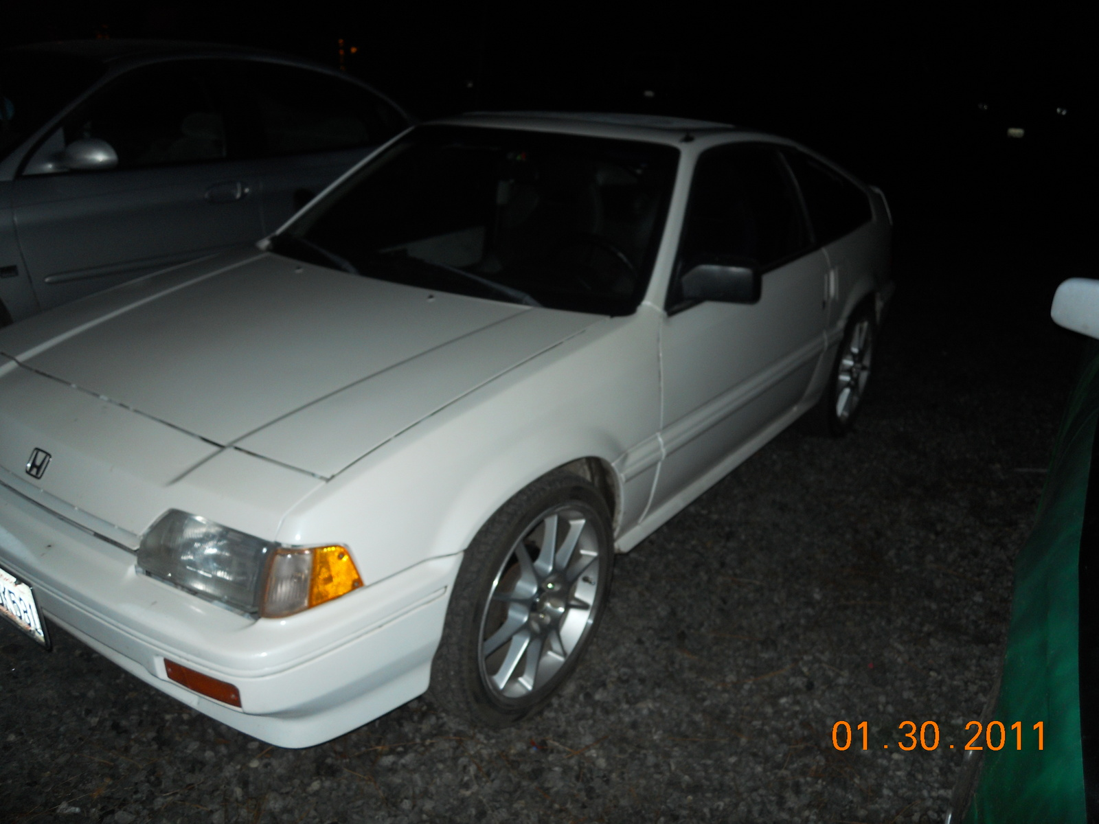 1986 Honda Civic CRX Si Coupe, the night i got it, exterior