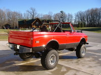 "1972 Chevrolet Blazer, My 1972 K5 - Cardinal Red Vortech 350 9"" lift, exterior, gallery_worthy"