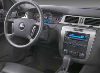 2012 Chevrolet Impala, Close-up of steering and radio copyright AOL Autos. , exterior, interior, manufacturer