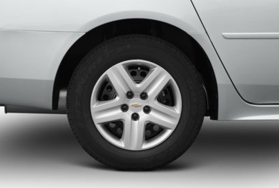 2012 Chevrolet Impala, Close-up of front tire copyright AOl Autos. , manufacturer, exterior