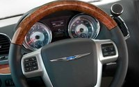 2012 Chrysler Town & Country, Close-up of steering wheel. , interior, manufacturer