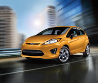 2012 Ford Fiesta, Front-quarter view, courtesy Ford Motor Company., manufacturer, exterior