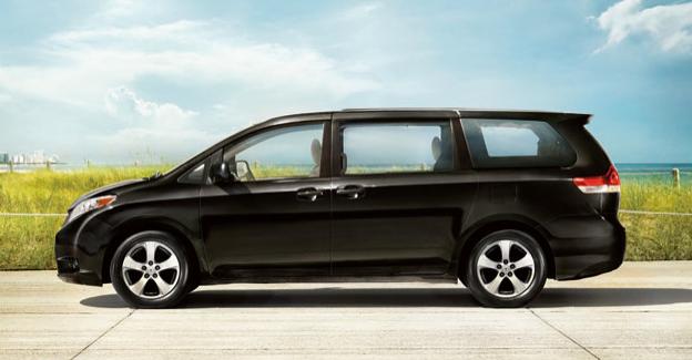 2012 Toyota Sienna, Side View. , exterior, manufacturer