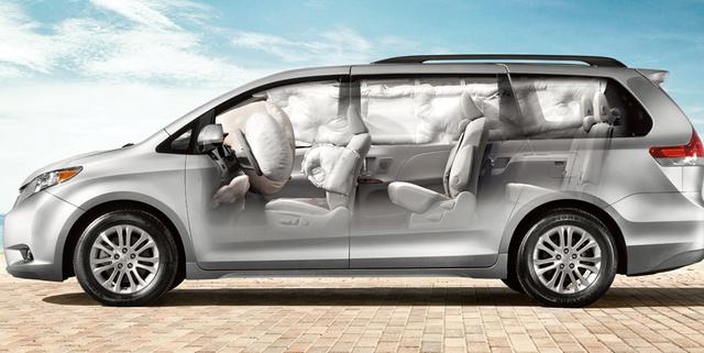 2012 Toyota Sienna, Side View airbag detail. , interior, manufacturer