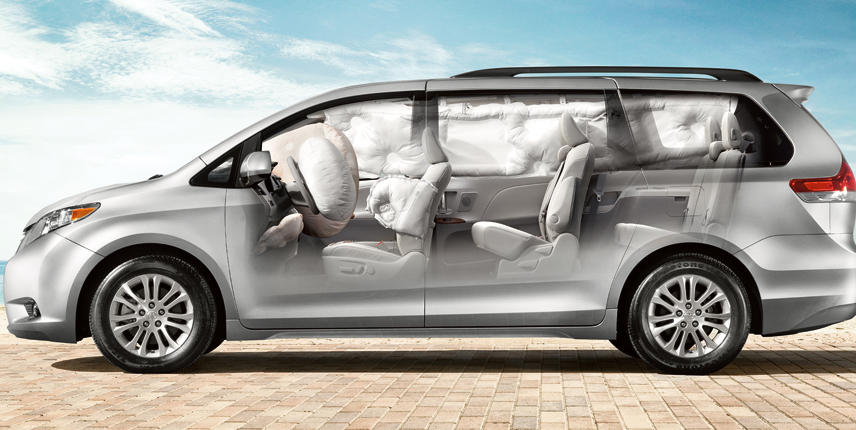 2012 Toyota Sienna, Side View airbag detail. , manufacturer, interior