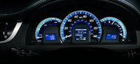 2012 Toyota Camry, Close-up of instrument gages. , interior, manufacturer, engine