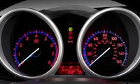 2012 Mazda MAZDA3, Close-up of instrument gages. , interior, manufacturer