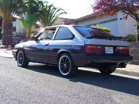 1984 Honda Accord LX Hatchback, Custom exhaust. Original 1984 Accord wing from Austria., exterior