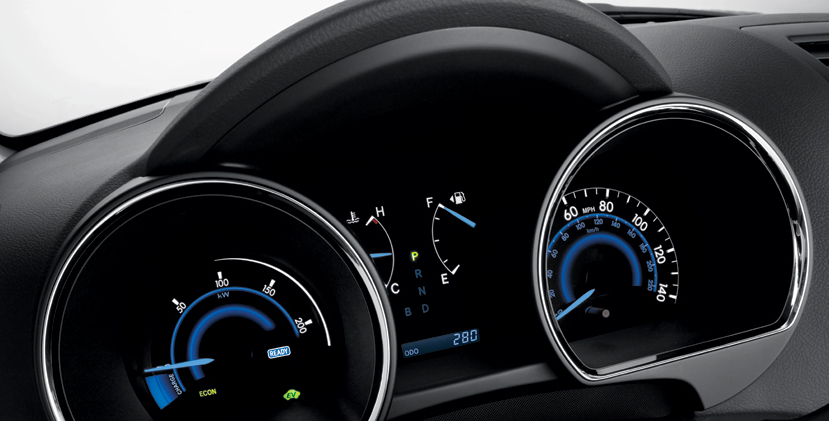 2012 Toyota Highlander Hybrid, Instrument gages. , manufacturer, interior