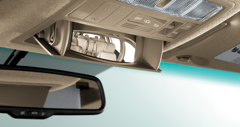 2012 Toyota Highlander Hybrid, Close-up of mirror. , manufacturer, interior