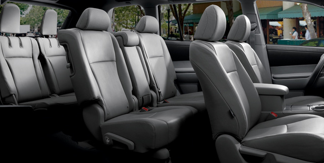 2012 Toyota Highlander Hybrid, Front and back seat. , interior, manufacturer