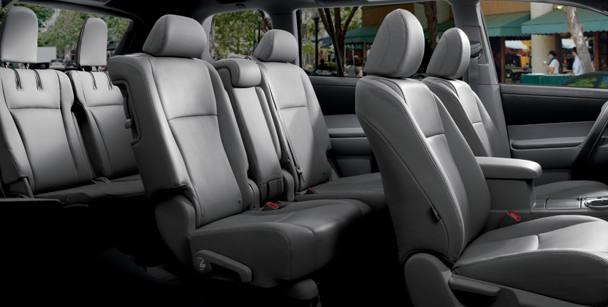 2012 Toyota Highlander Hybrid, Front and back seat. , manufacturer, interior