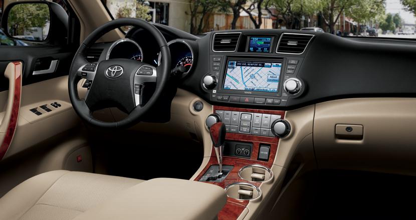 2012 Toyota Highlander Hybrid, Front Seat View. , interior, manufacturer