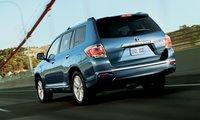 2012 Toyota Highlander Hybrid, Back quarte view. , exterior, manufacturer