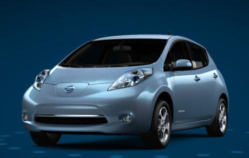 2012 Nissan Leaf, Front quarter view., exterior, manufacturer