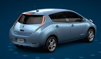2012 Nissan Leaf, Back quarter view. , manufacturer, exterior