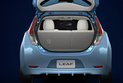 2012 Nissan Leaf, Trunk open. , manufacturer, interior