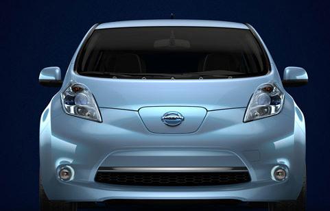 2012 Nissan Leaf, Front View. , exterior, manufacturer