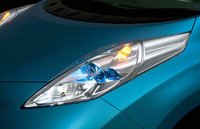 2012 Nissan Leaf, Close-up of head light. , manufacturer, exterior