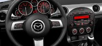 2012 Mazda MX-5 Miata, Steering wheel and stereo. , interior, manufacturer