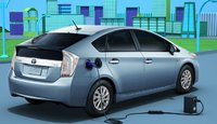 2012 Toyota Prius, Back quarter view. , exterior, manufacturer, gallery_worthy