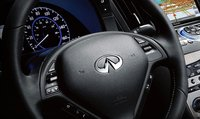 2012 Infiniti G37, Close-up of steering wheel. , interior, manufacturer