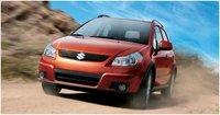 2012 Suzuki SX4 Base AWD Crossover, Front quarter, exterior, manufacturer
