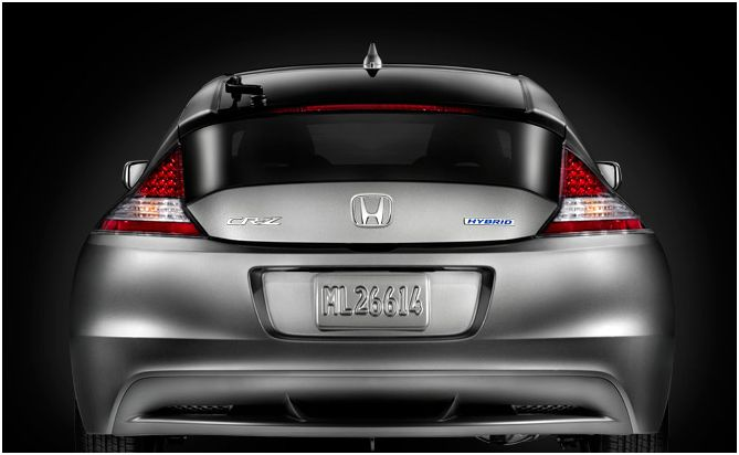 2012 Honda CR-Z Base, Rear view, exterior, manufacturer