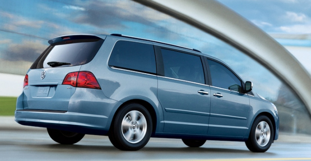 2012 Volkswagen Routan, Back quarter view. , exterior, manufacturer