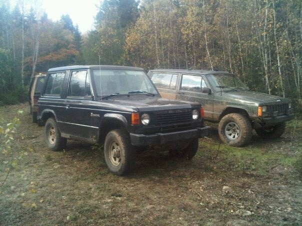 1987 Dodge Raider, the day I got it. my buddy was pissed about the fact that the raider has as much ground clearance in the front as his jeep, and yet mine dident need 35s :), exterior
