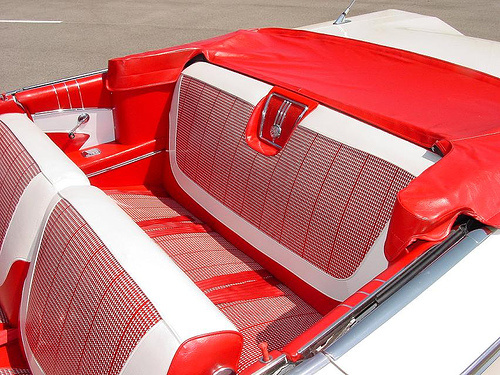 1960 Chevrolet Impala, This was the Interior when I got it. Still covered with Plastic, interior, gallery_worthy