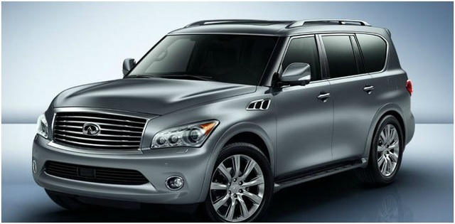 2012 INFINITI QX56, Front quarter, exterior, manufacturer, gallery_worthy