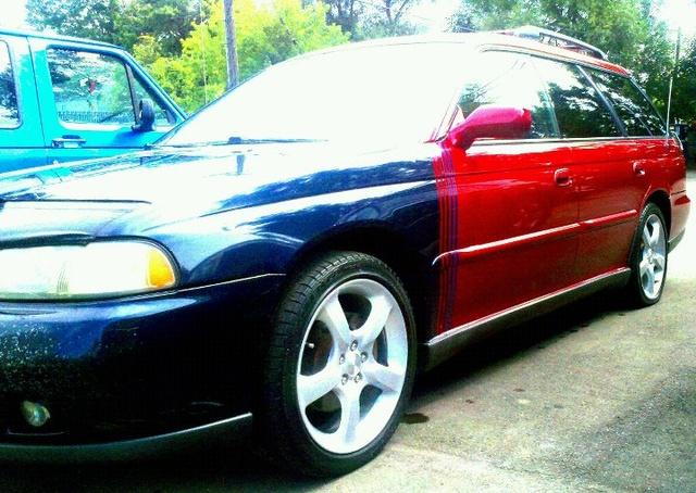 1996 Subaru Legacy 4 Dr GT AWD Wagon, My Slammin Subaru before i traded her in!, exterior